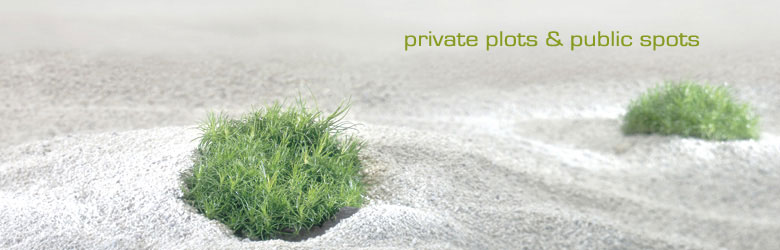 private plots & public spots